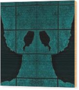 Black Hands Turquoise Wood Print