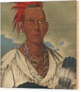 Black Hawk. Prominent Sauk Chief. Sauk And Fox Wood Print