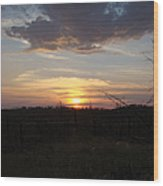 Black Hills Sunset IIi Wood Print