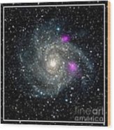 Black Holes In Spiral Galaxy Nasa Wood Print by Rose Santuci-Sofranko