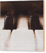 Black Keys D Flat And E Flat  Wood Print