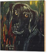Black Lab IIi Wood Print