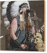 Black Label Society - Zak Wylde Wood Print