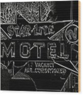 Black Lite Wood Print