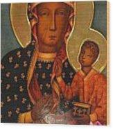Black Madonna Of Czestochowa Wood Print