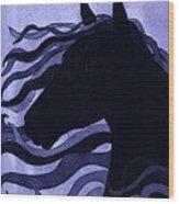 Black Magic Wood Print