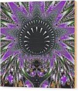 Black Magic Wand Fractal Wood Print