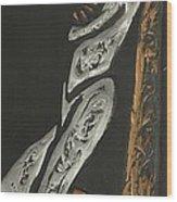 Black Man With Pipe Wood Print