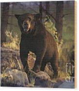 Black Max Wood Print