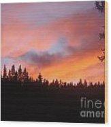 Black Mountain Sunset Wood Print