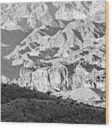 Black Mountains Of Arizona Wood Print