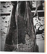 Black N White Chaps Wood Print