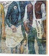 Black Panther Mural Berkeley Ca1977 Wood Print