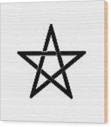 Black Pentagram Wood Print