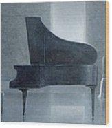 Black Piano 2004 Wood Print