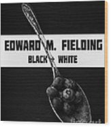 Black Plus White Book Cover Wood Print