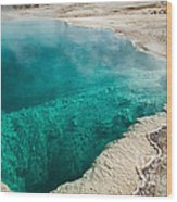 Black Pool In West Thumb Geyser Basin Wood Print