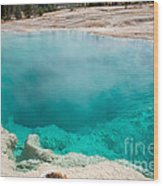 Black Pool In West Thumb Geyser Basin In Yellowstone National Park Wood Print