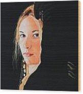 Black Princess - Eyes of Fire Wood Print