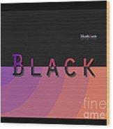 Black Rainbow Orange Wood Print