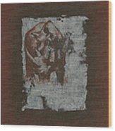 Black Rhino Wood Print