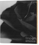 Black Rose Abstract Wood Print