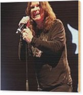 Black Sabbath - Ozzy Osbourne Wood Print