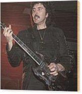 Black Sabbath - Tony Iommi Wood Print
