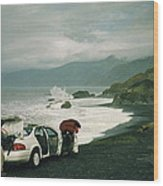 Black Sands Beach Wood Print