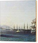 Black Sea Fleet In The Bay Of Feodosia Just Before The Crimean War 1890 Wood Print