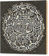 Black Sepia Oreo Wood Print