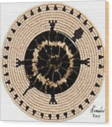 Black Shell Wood Print