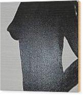 Black Silhouette Wood Print