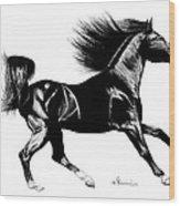 Black Speed Wood Print
