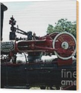 Black Steam Engine Wood Print