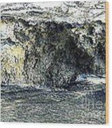 Black Surf Wood Print