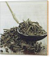 Black Tea Leaves Wood Print