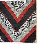 Black Thai Fabric 01 Wood Print