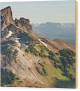 Black Tusk Mountain And Helm Lake Wood Print