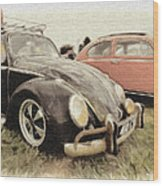 Black Vw Wood Print
