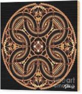 Black Walnut Interlock Wood Print