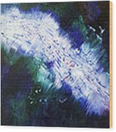 black white lightning blue green abstract ENERGY FORCE by Chakramoon Wood Print