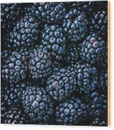 Blackberries Wood Print