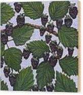 Blackberries Wood Print