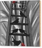 Blackbird Ladder Wood Print