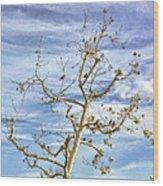 Blackbirds In A Tree Wood Print