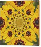 Blackeyed Susan Kaleidoscope Wood Print