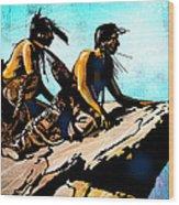 Blackfeet Scouts Wood Print
