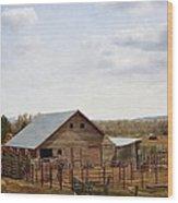 The Blackfoot Barn Wood Print