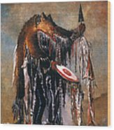 Blackfoot Medicine Man Wood Print